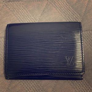 Authentic Louis Vuitton Epi Black Leather Wallet